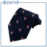 OEMのネクタイMicrofiberは完全なロゴによって編まれるネクタイを結ぶ
