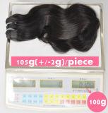 Необработанные труда удлинитель волос 105g (+/-2 g) /комплект природных бразильского Virgin волос кривой тела 100% волос человека отклоняется от класса 9A