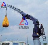 le boum télescopique marin de porte-fusée de 3t-15m tend le cou la grue marine hydraulique de bateau