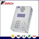 Intercomunicador Auto-Dial do telefone Emergency de aço inoxidável com teclado Knzd-03