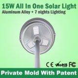 Luz Dector luz del sensor de montaje en poste Solar LED para el estacionamiento