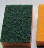 Cuisine en microfibre éponge de nettoyage, cuisine Scourer éponge, tampons de nettoyage de cuisine