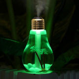 De Luchtbevochtiger van de Lucht van het Aroma van de Luchtbevochtiger 400ml van de zeven-kleur Gloeilamp