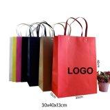 Saco personalizado da embalagem do presente do papel de embalagem Para o vestuário & as sapatas