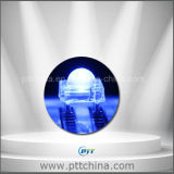 F5 kalter weißer Piranha LED, 5mm Superfluß LED, kalte weiße Selbstlichter, 10000-40000k, 6-10lm