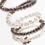 Pulseras de Perlas de imitación de cristal de la moda para mujeres multi-capa amplia pulseras y Brazaletes Pulseras joyas de mujer