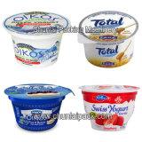 Máquina de enchimento da selagem do copo do Yogurt com tampa de vidro de Plexi