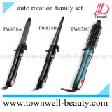 Hig-End Auto Rotation Hair Curler Comb com turmalina Ceramic Coating Barrel