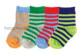 Zebra-Streifen Diagonalen kopierten Baby-Socke