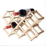 Log-Color-Madera-Rojo-Vino-Estante-Estante-Ajustable-Cocina-Vino-Rack-Bottle-Holder