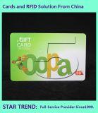Tarjeta de PVC tarjeta de regalo con banda magnética para centro comercial