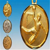 صنع وفقا لطلب الزّبون فارغة نوع ذهب مكافأة كرة يد وسام صندوق جيش عملة ميداليّة