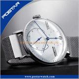 De fabriek voorzag het Dubbele Overkoepelde 316L Horloge van het Roestvrij staal van Milanese Band