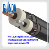 solo cable eléctrico de cobre aislado XLPE subterráneo de la base 6/10KV