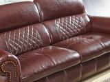 Sofá del cuero del estilo de América, los mejores muebles del hogar de la calidad (A54)