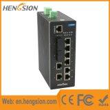 10의 포트는 산업 이더네트 SFP 섬유 통신망 스위치를 처리했다