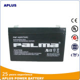 Batterie solaire rechargeable à l'aide de l'acide nucléique au plomb VRLA 6V7ah