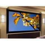 Écran fait sur commande de projecteur de bâti fixe avec tissu blanc/gris flexible de HD