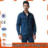 Uniforme bleu industriel fait sur commande d'ouvrier de couleur avec du coton