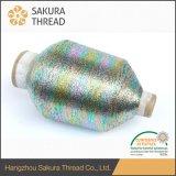 Plata tejido con hilo metálico para vestido bordado