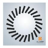 Quadratischer Stahlplatten-Strudel-Diffuser (Zerstäuber) mit justierbaren Schaufeln