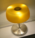 Mini / Small Original Brown Modern Glass Reading Desk Lâmpada de mesa Lighting for Home, D20. H26cm