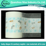 赤ん坊のおむつの原料(LF-012)のための通気性の印刷された薄板にされたフィルム