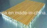 Цвет древесины ячеистой алюминиевой конструкции наружной стены с установкой системы