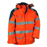 Куртка дождя безопасности водоустойчивых Breathable людей модной высокой видимости отражательная