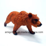 Cute Plastic Grizzly Bear Toy