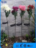 Crisantemo artificiale con indicatore luminoso solare per la decorazione esterna