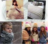 La alta calidad Chunky tejer lana merino hilos para tejer a mano
