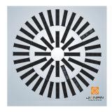 Der meiste populäre Luft-Luftauslass-Platten-Strudel-Diffuser (Zerstäuber) mit justierbaren Schaufeln