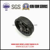 Rotella di plastica del motore del prato inglese di alta qualità con la gomma di gomma di Overmold