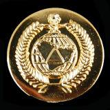 Oro che antico in lega di zinco del distintivo del collare (CB40424) polizia militare del metallo dell'esercito americano Badge