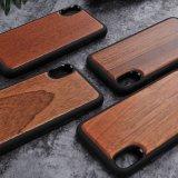 iPhone Xのための実質の木の優れた保護携帯電話カバー