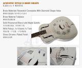 Электрическая гитара акустического резонатора скольжения син тела o металла