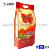 Kundenspezifischer Größen-Seiten-Stützblech-Reis-Beutel mit Griff
