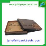 Het aangepaste Stijve Verpakkende Vakje van de Gift van het Document van de Verpakking van de Juwelen van het Deksel