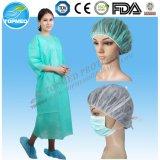 SMS/PP+PE Waterproof punho elástico/feito malha do vestido da isolação,