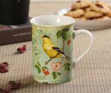 Tazza di ceramica poco costosa di vendita calda di tono di bianco due con la maniglia di colore