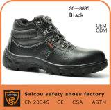 Hete Verkopende Echte Fabriek Sc-8885 van de Laarzen van de Veiligheid van de Teen van het Staal van het Leer