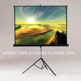 der 244X244cm Stativ-ziehen beweglicher Projektions-Bildschirm/Fußboden Projektions-Bildschirm hoch