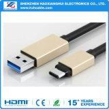 1m USB 3.1のタイプCケーブル2.1Aは充満ケーブル絶食する