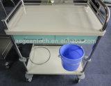 Рамка металла стационара AG-Mt035 с вагонеткой пациента 2 тазиков