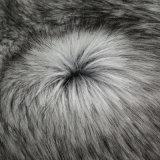 Franco della pelliccia del tessuto di falsificazione della pelliccia della pelliccia artificiale del Faux di alto del mucchio tessuto della pelliccia con il mackintosh