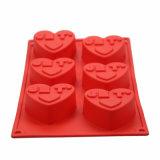 Силикон качества еды прессформы торта/шоколада/мыла влюбленности FDA/LFGB теплостойкmNs