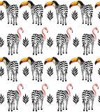 Nova arte tropical da parede da lona da vida selvagem da venda quente