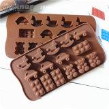 Molde de madera de la torta del silicón de la dimensión de una variable de Babybear del caballo del mini coche de Fiveteen con los 21*10.5*1.5cm