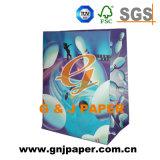 Logotipo personalizado y de la imagen de la bolsa de papel kraft para embalaje de regalo
